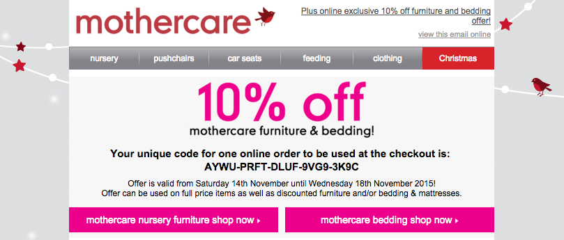 10% off is online only, even though the terms are subtle.