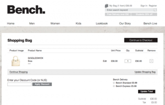 Bench UK Magento Enterprise Website